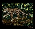 Jaguar in Color by SilentRavyn
