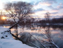 Snow, water and sun by LauraDraghici