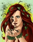 Poison Ivy and Groot (color) by Aethibert by RedIsley