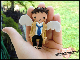 Castiel Necklace by GrandmaThunderpants