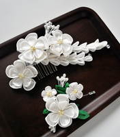 Hidden Secret boutonniere . tsumami kanzashi by hanatsukuri