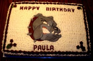 Bulldog Cake by InkArtWriter
