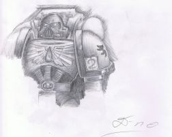 Space Marine Sketch by DrD-no