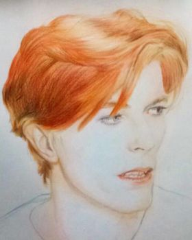 [PROCESS] David Bowie made with pencils  by deakyontoast