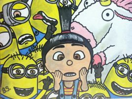 Agnes Unicorn Minions from Despicable Me painted by sampson1721