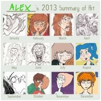 2013 Art Progression by magusVroth