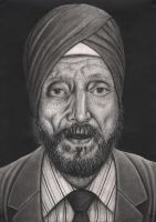 Portrait of my DAD 'Teja Singh Tattal' by Pen-Tacular-Artist