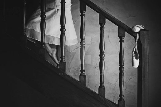 A ghost in the stairs by Libirdie