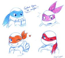 .: TMNT 2012 Cuties :. by xSkyeCrystalx