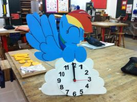 Rainbow Dash Clock by EquestrianMarine