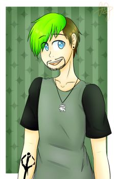 Jacksepticeye||Colored In (2/2) by AJDraws20XX