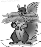 Squirrel by solitaryzombie