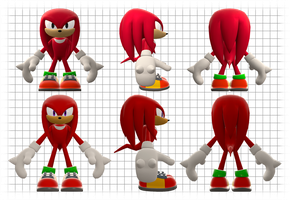 Knuckles the Equidna Reference Sheet by Lucas-da-Hedgehog