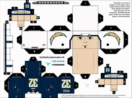 Eric Weddle Chargers Cubee by etchings13