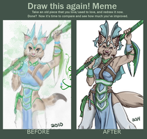 Draw This Again - Ari 2010 vs Ari 2014 by GaelicKitsune