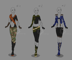 Battle-Outfit Adopts - sold by Nahemii-san