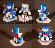 SD Mini Ultra Magnus complete cardmodel by Masamune-Washington