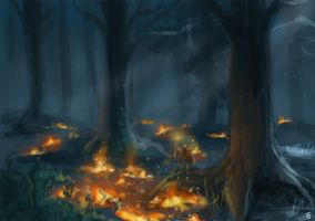 Forest Fire by Jeffufu
