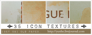 old paper - icon textures by yunyunsarang