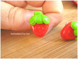 Strawberry Stud Earrings II by sunnyxshine