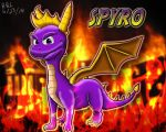 Spyro the Dragon by RachelRoseLitts