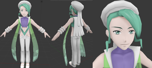 MMD Model - Mikuri/Wallace (WIP) by Pikangie