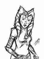 ahsoka sketch by shadoefax