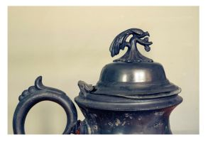 Old Pewter Coffee Pot Lid by zingmatter