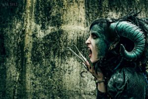 She Has Blood of Reptile Just Underneath Her Skin by gAkPhoto