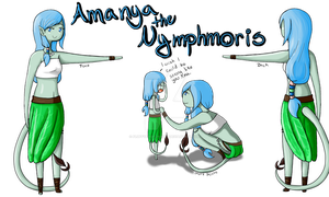 Water Nymphmoris by FluffyAngelBunny