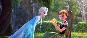 Elsa and Anna with ducks by Simmeh