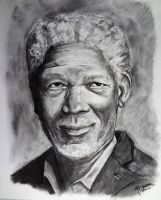 Morgan Freeman by eemran
