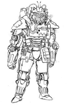 Teslpunk Suit uncolored by Ianfodder
