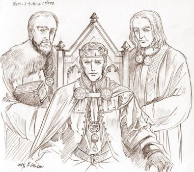 King Uther and Gaius, Geoffrey by Kazuki-MENDOU