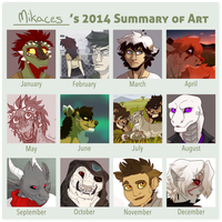 2014 Summary of Art by Mikaces