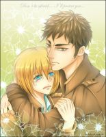 Don't be afraid Armin... I'll protect you... by Kryhelis