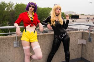 Faye and Julia- Cowboy Bebop Cosplay 2 by VordigonPhotography