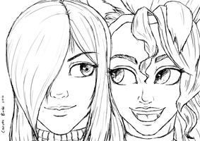 Request: Parasoul and Felicia by canvasbushi