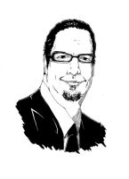 Penn Jillette by ccayco