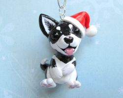 Husky Ornament by DragonsAndBeasties