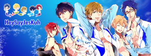 Free! Iwatobi Swim Club Facebook Timeline by TenTen143
