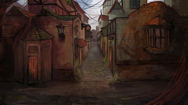 Reclaimed Streets by Andybaileyart