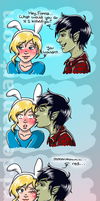 Adventure Time: Fionna and Marshall Lee by OdieFarber