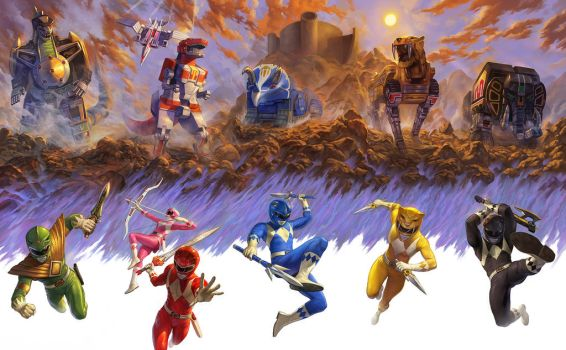 Mighty Morphing Power Rangers (Set!) by NickRoblesArt