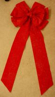 Grannys red bow by GRANNYSATTICSTOCK