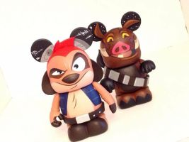 Timon and Pumbaa Vinylmation by F1shcustoms