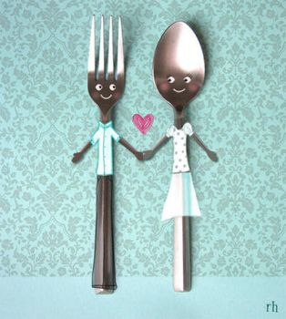 fork and spoon by FrenchFryGirl