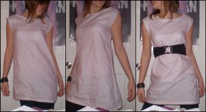 Pink and grey dress by Teapartyforgirls