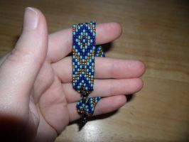 Blue and Bronze Bracelet by kayanah