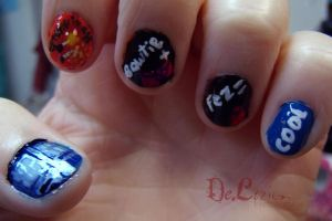 Eleventh Doctor Nail art by ChainOfLight